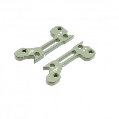 7075 T6 3mm 2 x Upper Arm Bracket Hard Anodized 2°-1°
